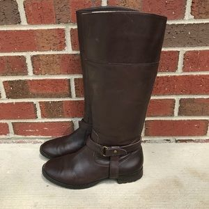 Lauren Ralph Lauren Shoes - Lauren Ralph Lauren Saniya Brown Leather Boots 7M